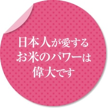 日本人が愛するお米のパワーは偉大です