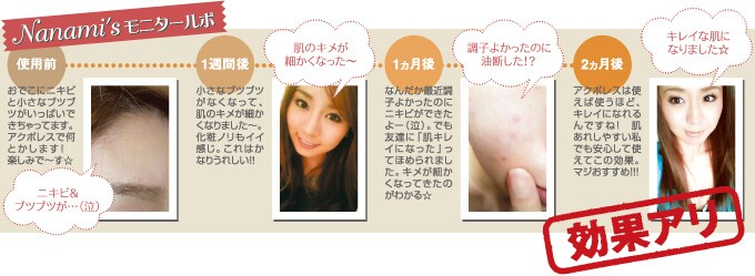 Nanami'sモニターレポ「効果アリ」
