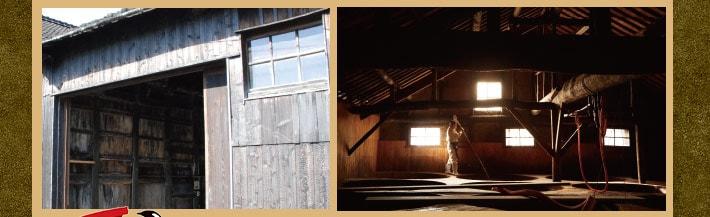 杉の樽醸造醤油の蔵