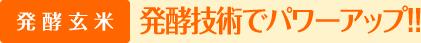 発酵玄米 発酵技術でパワーアップ!!