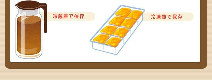 冷蔵庫で保存 冷凍庫で保存