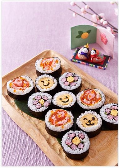 今年のひな祭りパーティは飾り巻き寿司で可愛く楽しんで!