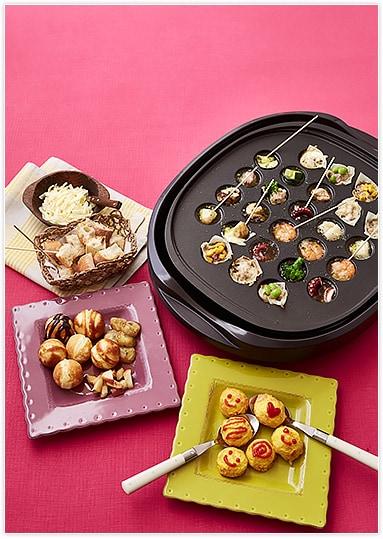 たこ焼器で前菜からデザートまで作っちゃおう!盛り上がること間違いなし♪