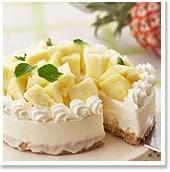 """初夏にぴったりのさっぱりデザート♪""""パイナップルのレアチーズケーキ"""""""
