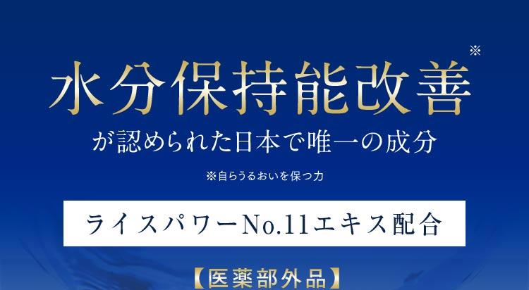 水分保持能改善※が認められた日本で唯一の成分[ライスパワーNo.11エキス配合]〈医薬部外品〉 ※自らうるおいを保つ力